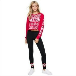 Pink Nation crop top long sleeve NWT XS